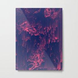 Glitchin' - Abstract Pixel Art Metal Print