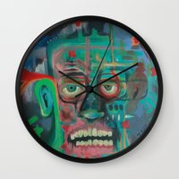 james franco Wall Clocks featuring James by Noah Zark