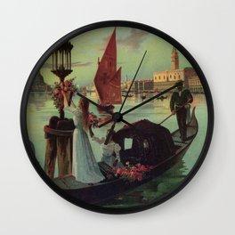 Paris Venice Victorian romantic travel Wall Clock