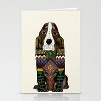the hound Stationery Cards featuring Basset Hound by Sharon Turner