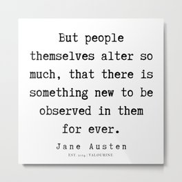77    | Jane Austen Quotes | 190722 Metal Print