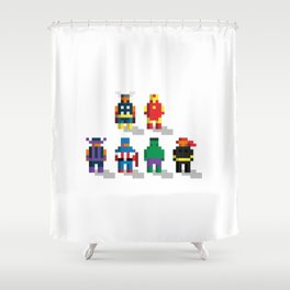 Earth's Mightiest Pixels Shower Curtain