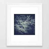 blueprint Framed Art Prints featuring Blueprint by Jesse Rather