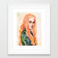 lions Framed Art Prints featuring Lions by Maria Bruggeman
