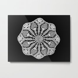 lace round ornament 2 Metal Print