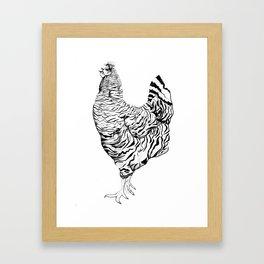 Zebra - Henhouse Series Framed Art Print
