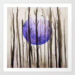 Dusk Woods Art Print