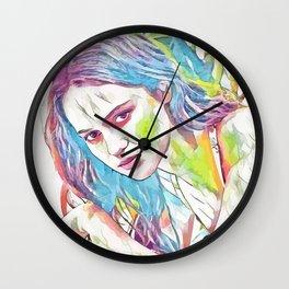 Alicia Vikander (Creative Illustration Art) Wall Clock