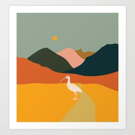 Ibis in the mountains Art Print