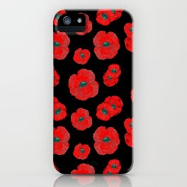 Dark Poppies iPhone Case