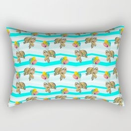 sloths in the air Rectangular Pillow
