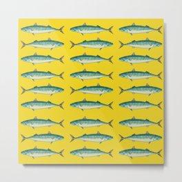 sea fish mackerel Metal Print
