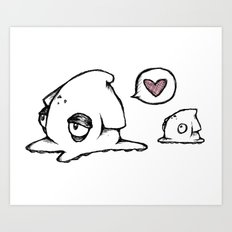 Squid Love Art Print
