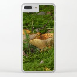 Wild Mushrooms Clear iPhone Case