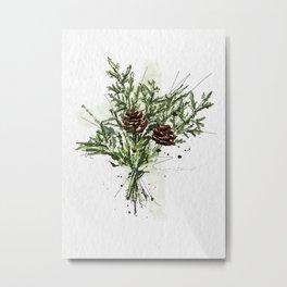 Greens of Christmas Metal Print