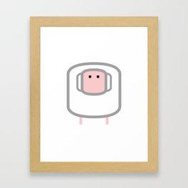 Geometric Animals of the FARM: the sheep Framed Art Print