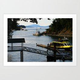 Harbour at Butchart´s Garden Art Print