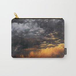 Watercolor Sky No 6 - dramatic storm clouds Carry-All Pouch
