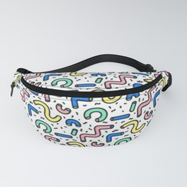 80s - 90s KEITH HARING STYLE SQUIGGLE PATTERN Fanny Pack