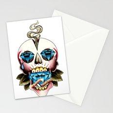 Diamond Skull Stationery Cards