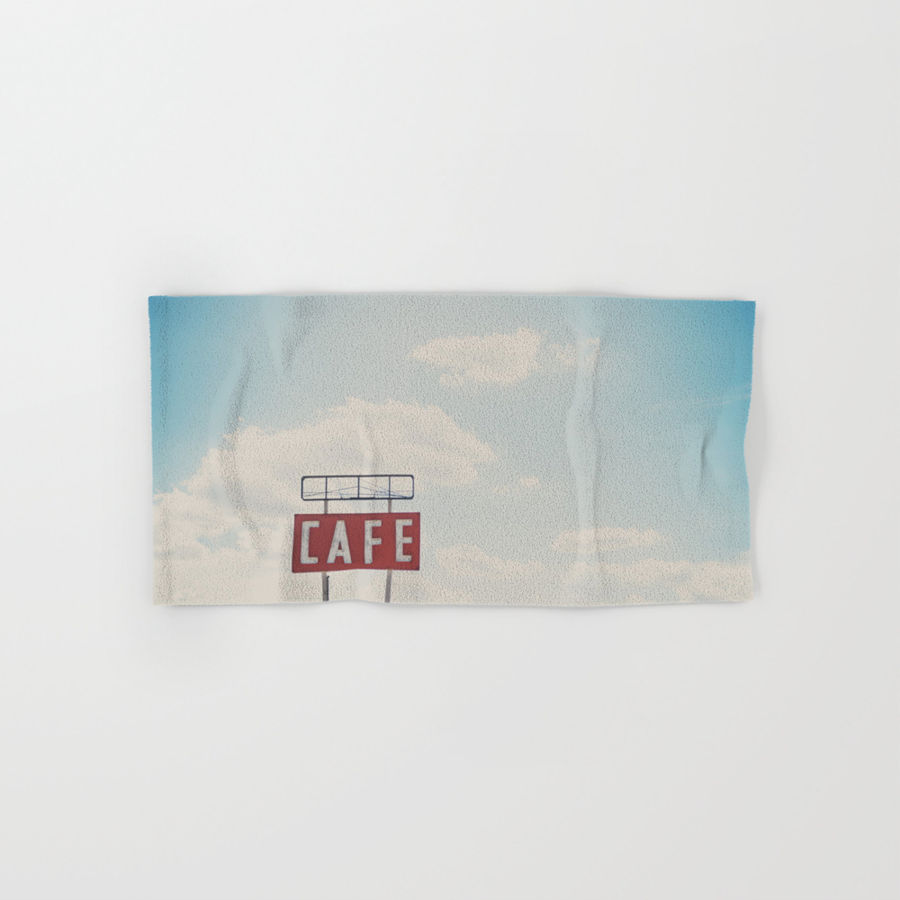 A Cafe Along Route 66 ... Hand Towel by Oohprettyshiny BTL7540105
