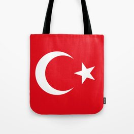 National flag of Turkey, Authentic color & scale Tote Bag