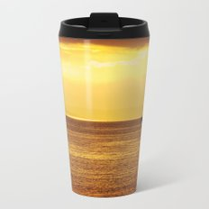 Going Fishing at sunset Metal Travel Mug