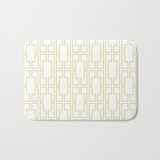 Simply Mid-Century in Mod Yellow Bath Mat