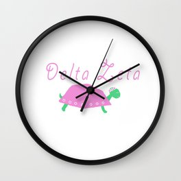 Greek DZ with turtle Wall Clock