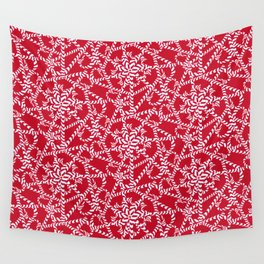 Candy cane flower pattern 2a Wall Tapestry