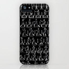 Kung Fu Diagram(Black) iPhone Case