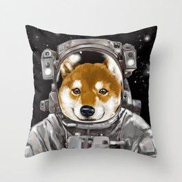Astronaut Shiba Inu Throw Pillow