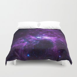 Purple Galaxy Duvet Cover