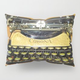 corona vintage typewriter Pillow Sham
