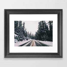 Winter Drive Framed Art Print