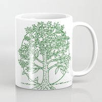 coasters Mugs featuring Forest Lover's Tree by KimberlyVautrin