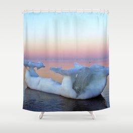 Viking Iceship on the Sea Shower Curtain