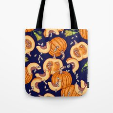 Pumpkin night life Pattern Tote Bag