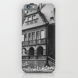 retro monochrome Reist in Deutschland iPhone Case