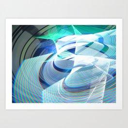 Smooth light art photography Art Print