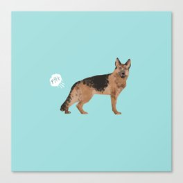 german shepherd funny farting dog breed gifts Canvas Print