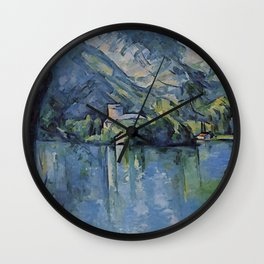 "Paul Cezanne ""The Lac d'Annecy"", 1896 Wall Clock"