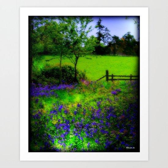 Bluebell Wood Art Print