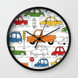 Busy Traffic Pattern Wall Clock