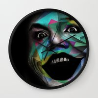 joker Wall Clocks featuring Joker by Urban Artist