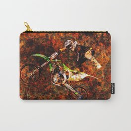 """""""On Fire"""" Freestyle Motocross Rider Carry-All Pouch"""