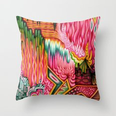 Sunk into a Candy Cave Throw Pillow