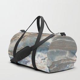 Pearly Blue Swirl Marble Duffle Bag