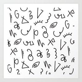 Secret Lettering Art Print