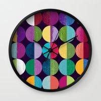 the moon Wall Clocks featuring Moon by Kakel